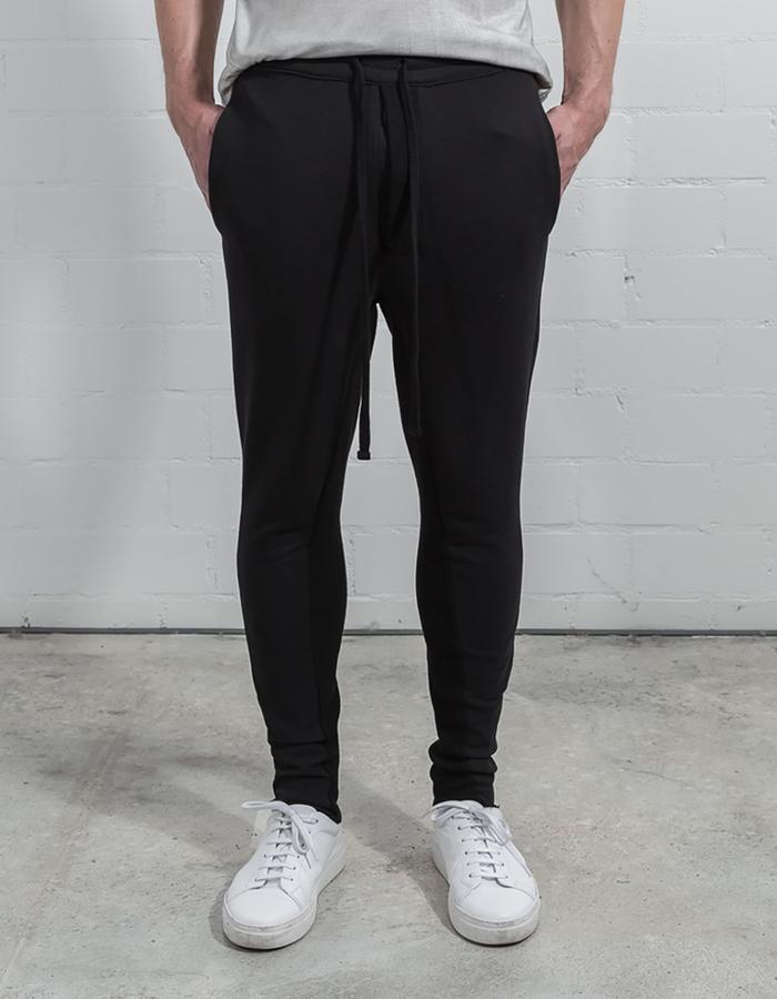 THOM KROM LOW CROTCH SWEAT PANTS - BLACK