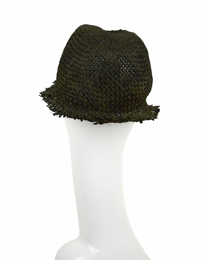 ISABEL BENENATO STRAW HAT - BLACK