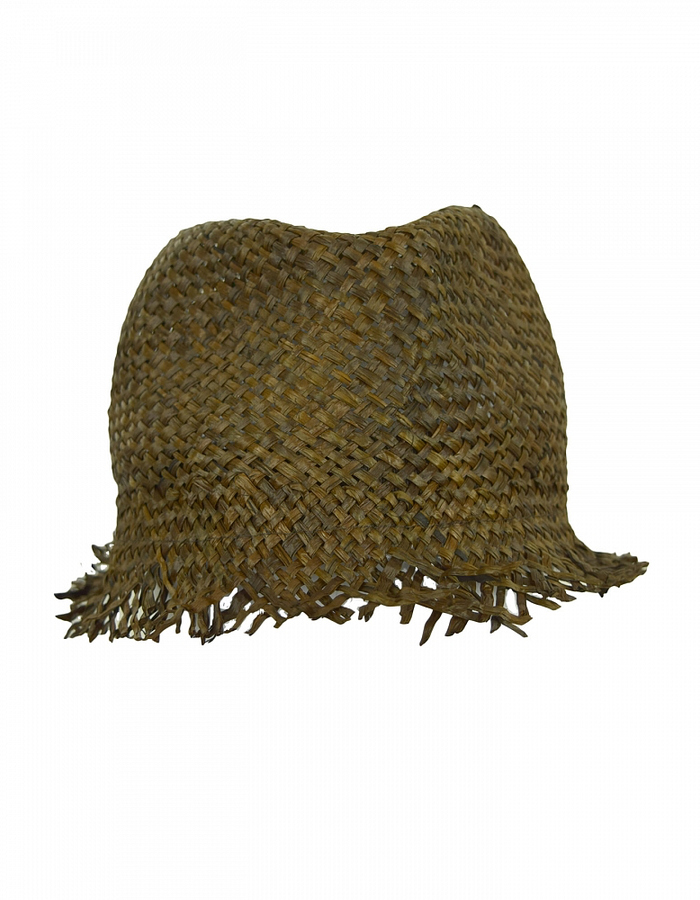 ISABEL BENENATO STRAW HAT - SOIL