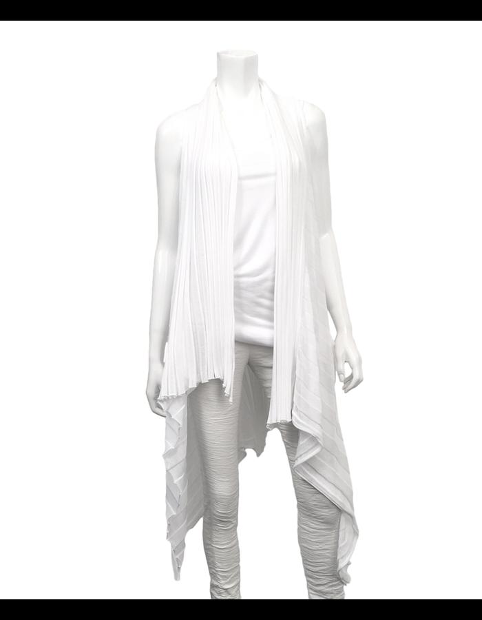 MASNADA COTTON SHEER VEST - WHITE