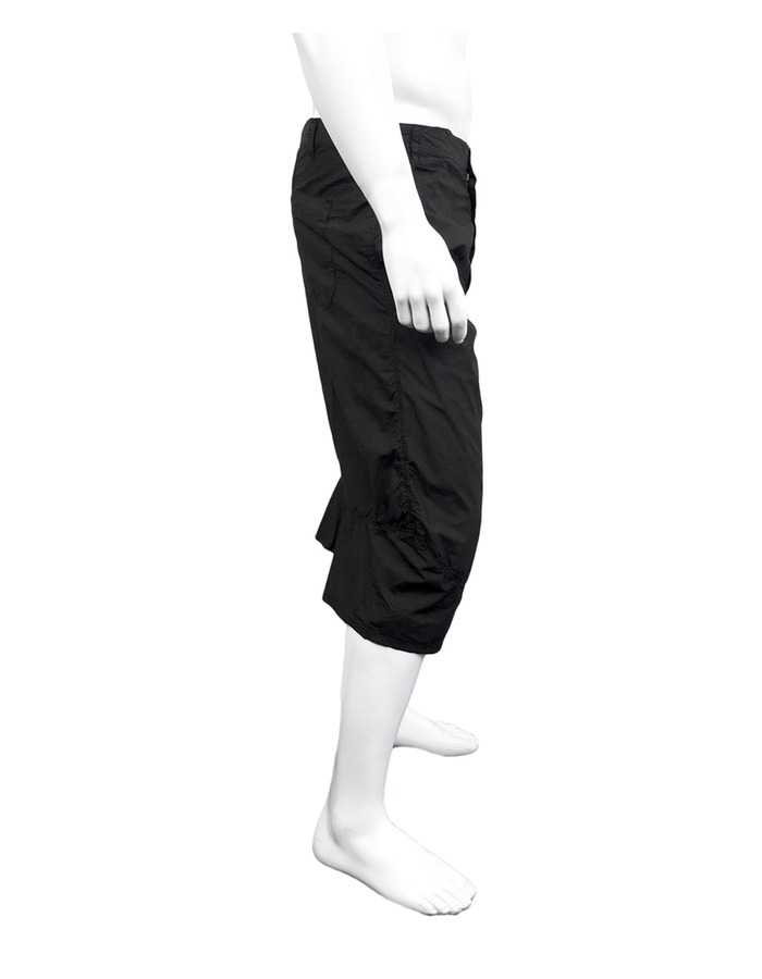 ANDREA YAAQOV LONG COTTON SHORTS - BLACK