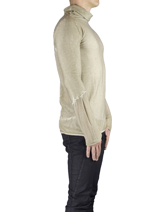 ANDREA YAAQOV TURTLE NECK WITH BACK PANELS