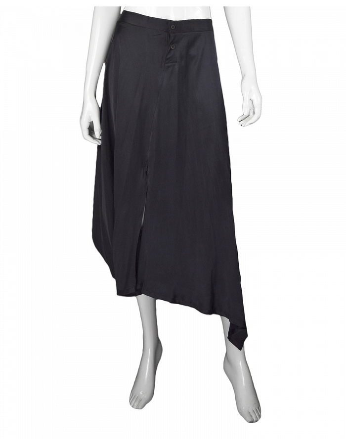 LOST AND FOUND STRETCH SILK SKIRT PANT