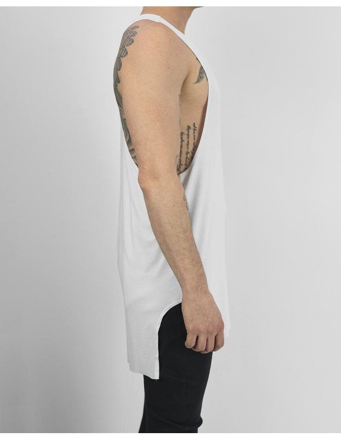 DAVIDS ROAD SHEILD TANK TOP - WHITE
