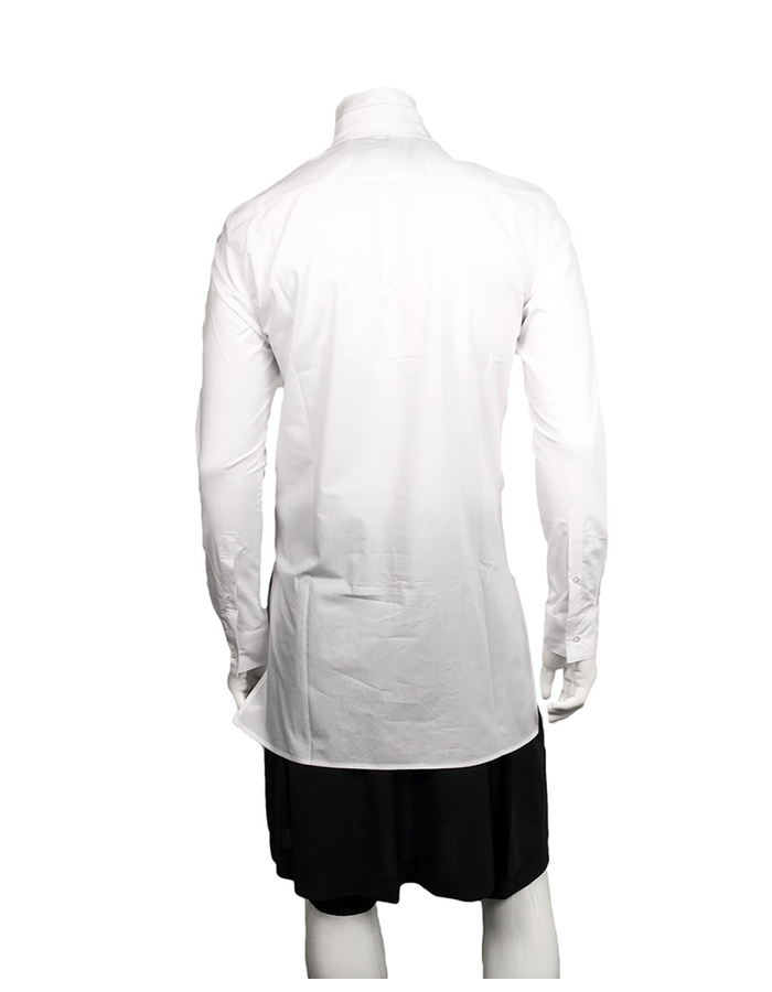 D.GNAK ZIP FRONT SHIRT - WHITE