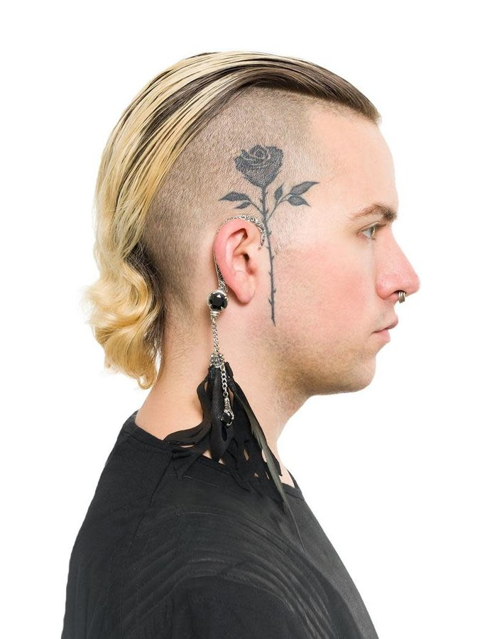 KD 2024 EARCLIP STONE FEATHER - RIGHT EAR