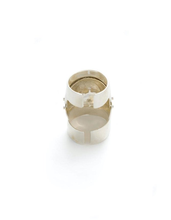 FANGOPHILIA INNER JOINT RING - SILVER