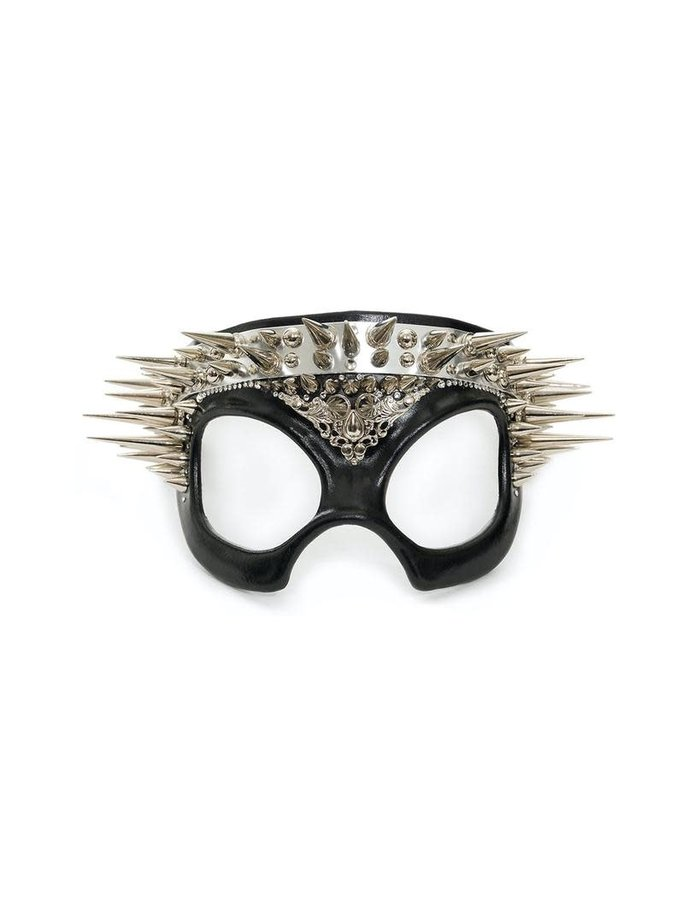 CECILIO LEATHER DESIGNS SPIKE CROWN FACEMASK