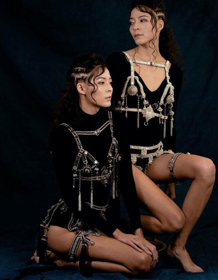 OBJECT AND DAWN ELOHIM MODULAR HARNESS w/ REMOVABLE BLK TASSLES