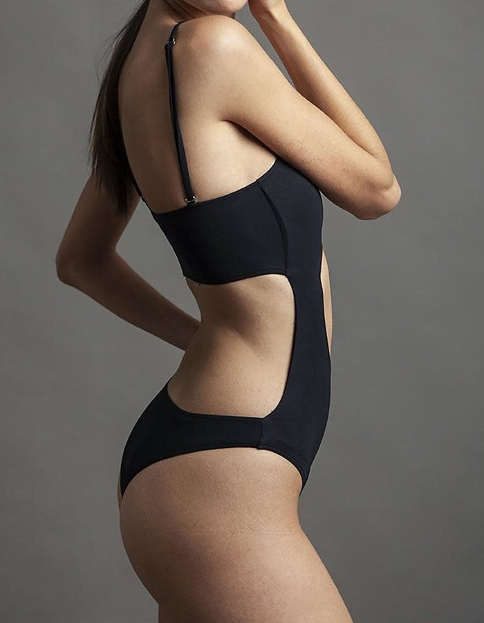 NOSTRA SANTISSIMA CUT OUT ONE PIECE SWIMSUIT