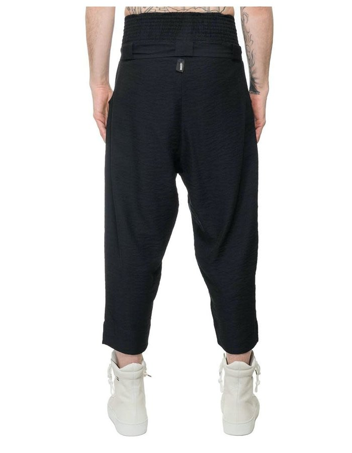 DAVIDS ROAD LIGHT COTTON CREASED COTTON BELTED TROUSER