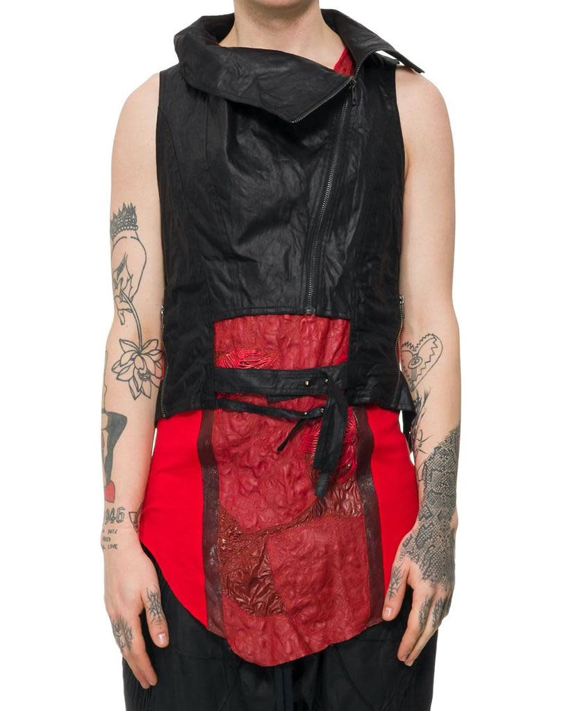 WAXED COTTON HIGH NECK VEST HARNESS