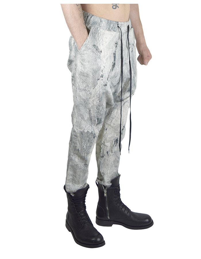 ARMY OF ME DROPPED CROTCH LINEN TROUSERS