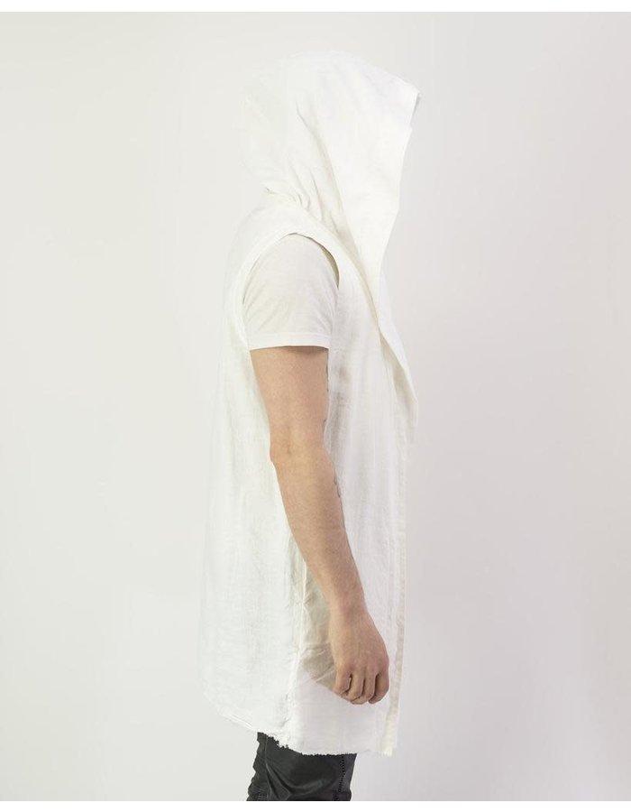 ANDREA YAAQOV LINEN VEST - WHITE