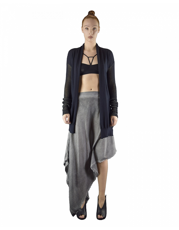 LOST AND FOUND ROOMS COTTON TRAPEZE SKIRT