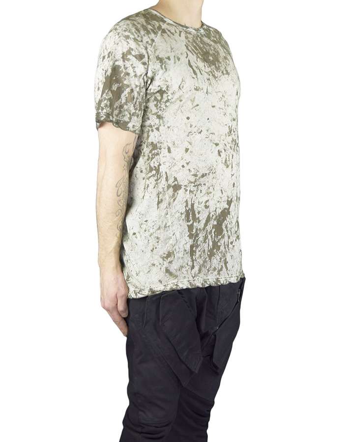 HAMCUS HAMCUS FITTED TEE - MOSS