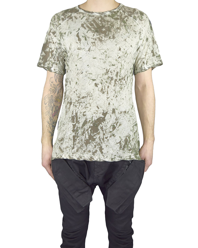 HAMCUS FITTED TEE - MOSS