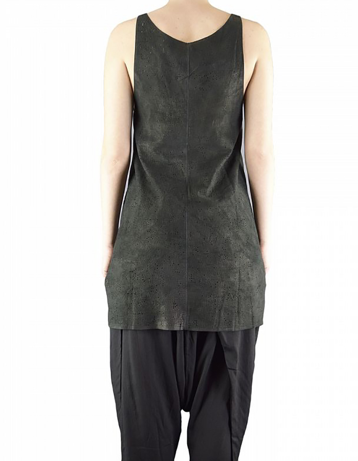 MONARC 1 HAND PUNCHED LEATHER TANK TOP