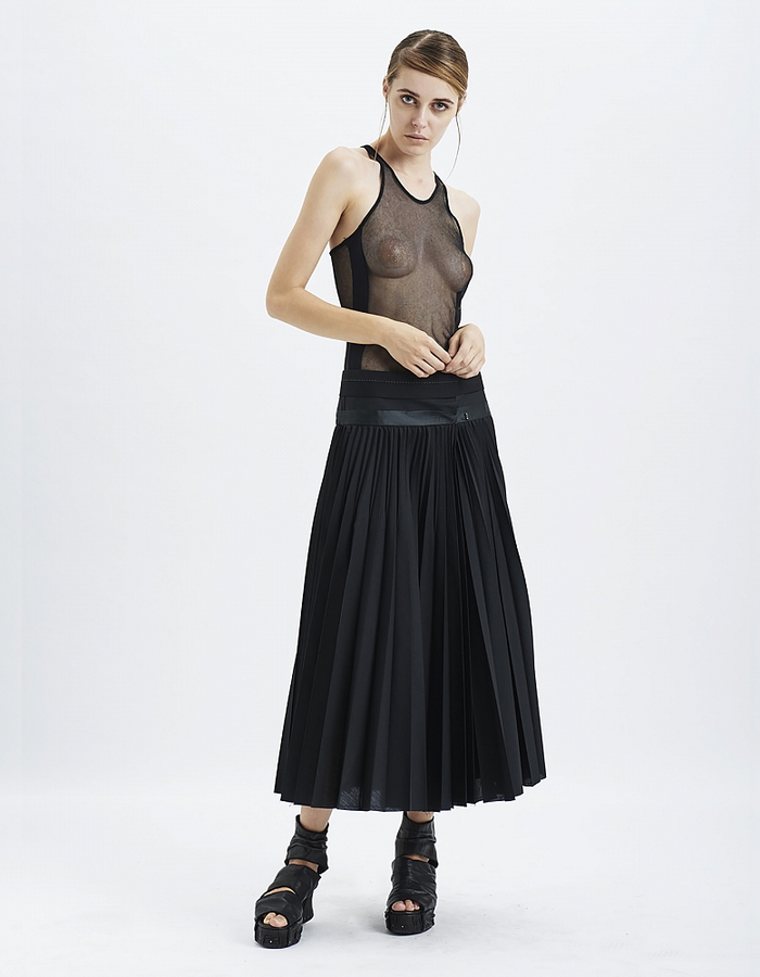 MASNADA SUNRAY COTTON CUMMERBUND SKIRT
