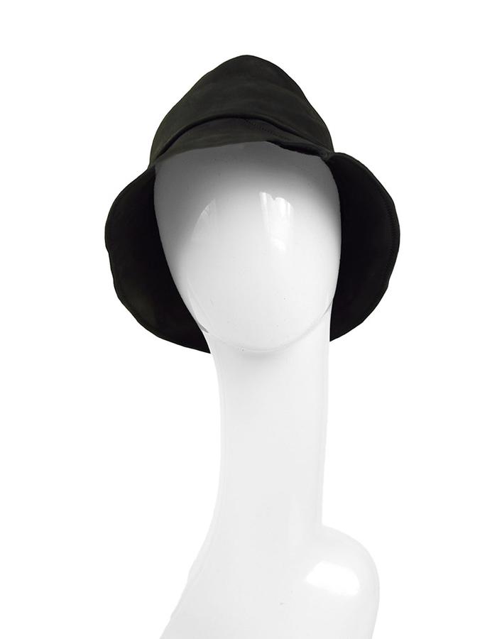 KLOSHAR HATS MILES LEATHER HAT - BLACK