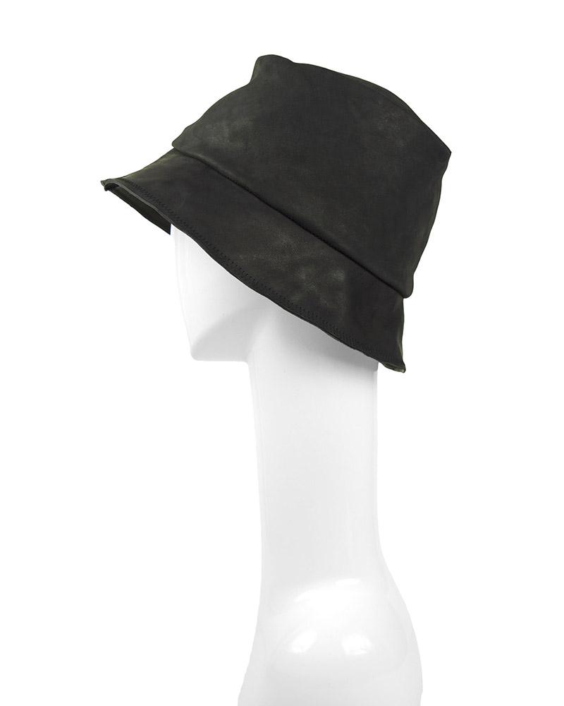 MILES LEATHER HAT - BLACK