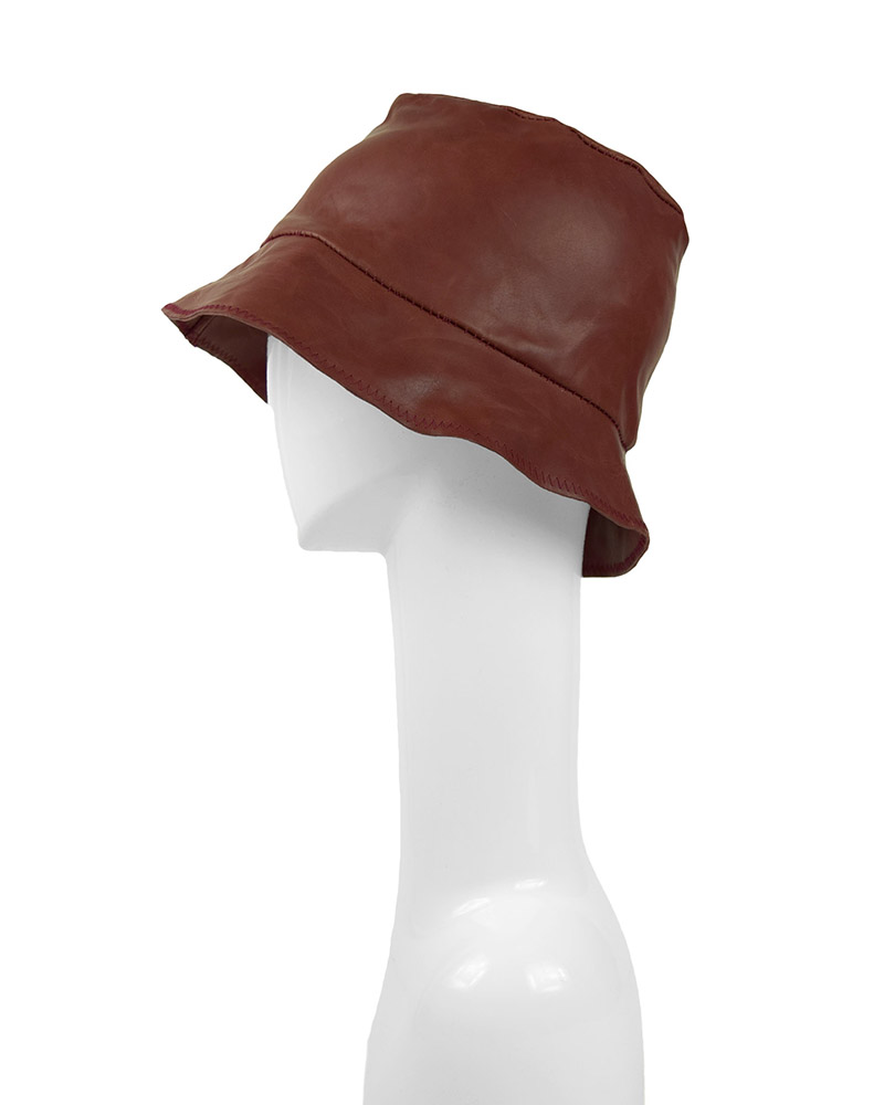 MILES LEATHER HAT - RED