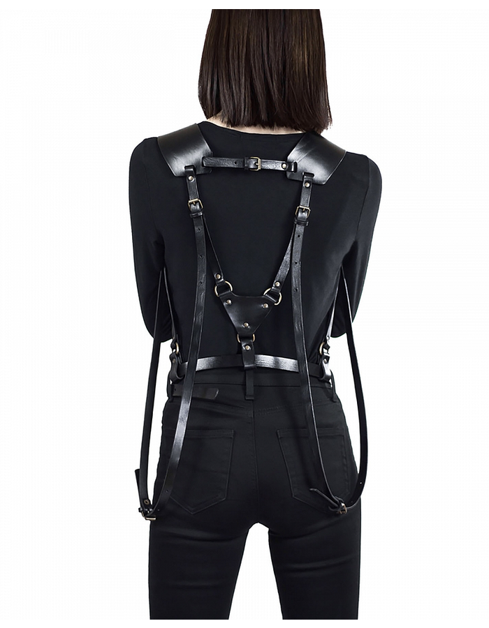 TEO + NG TSEO LEATHER HARNESS / ANTIQUE SILVER