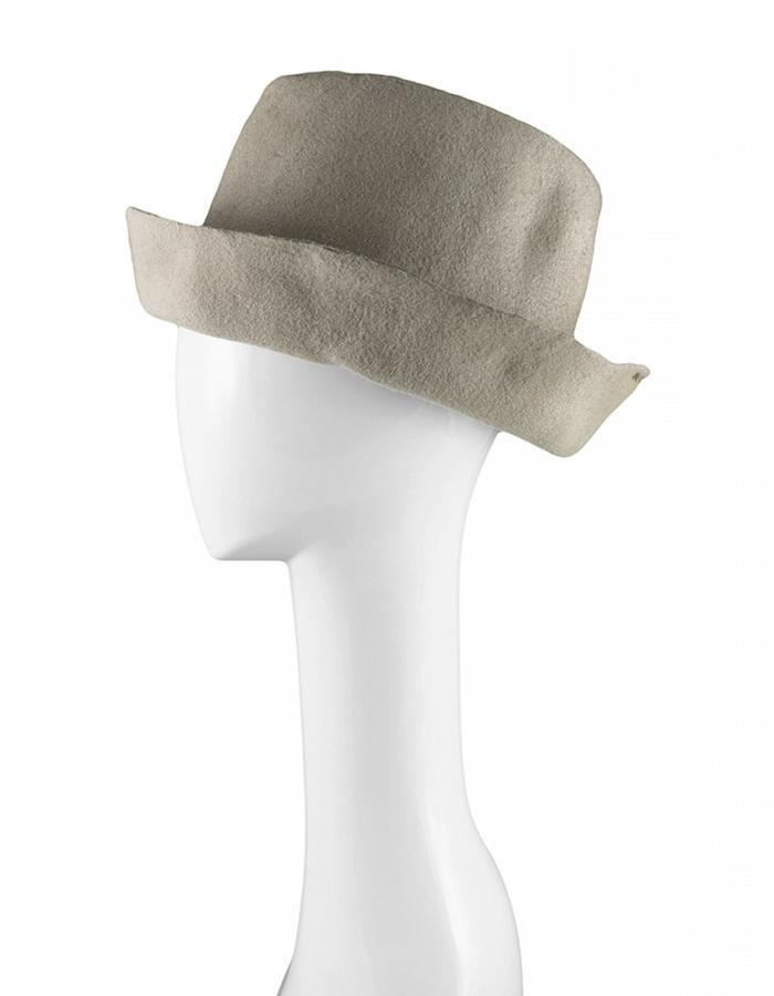 REINHARD PLANK ARTISTA WOOL HAT -BEIGE WAXED