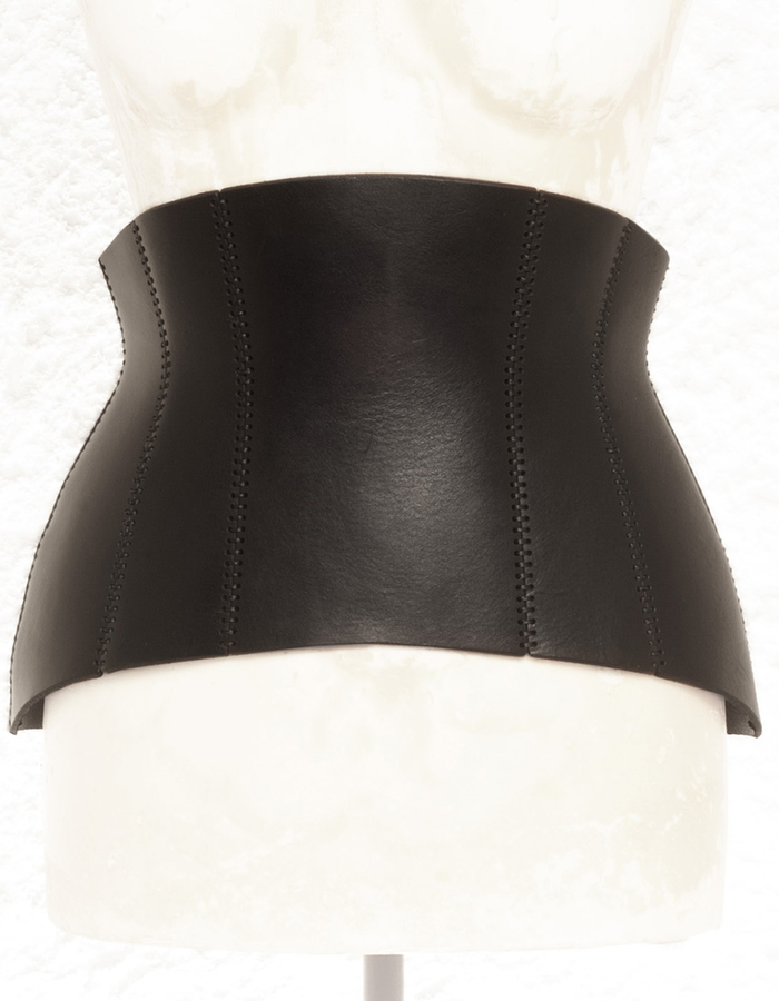 0770 7 BUCKLE  CORSET FLAT LEATHER