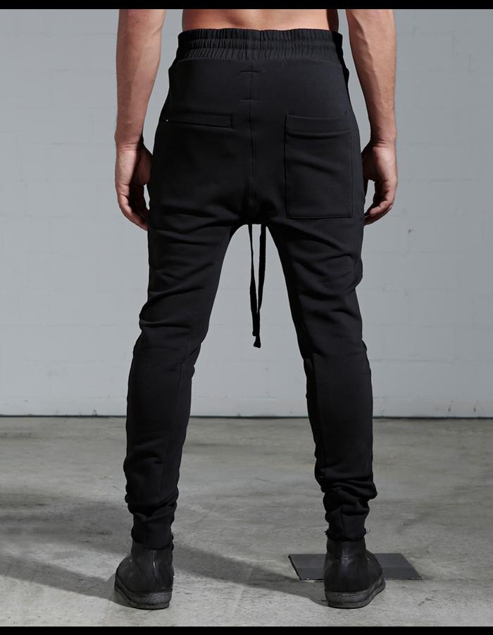 THOM KROM ZIP POCKET PANT W/ PIPING - BLACK