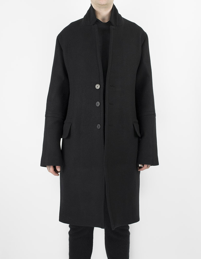 ISABEL BENENATO LOOSE FIT WOOL COAT