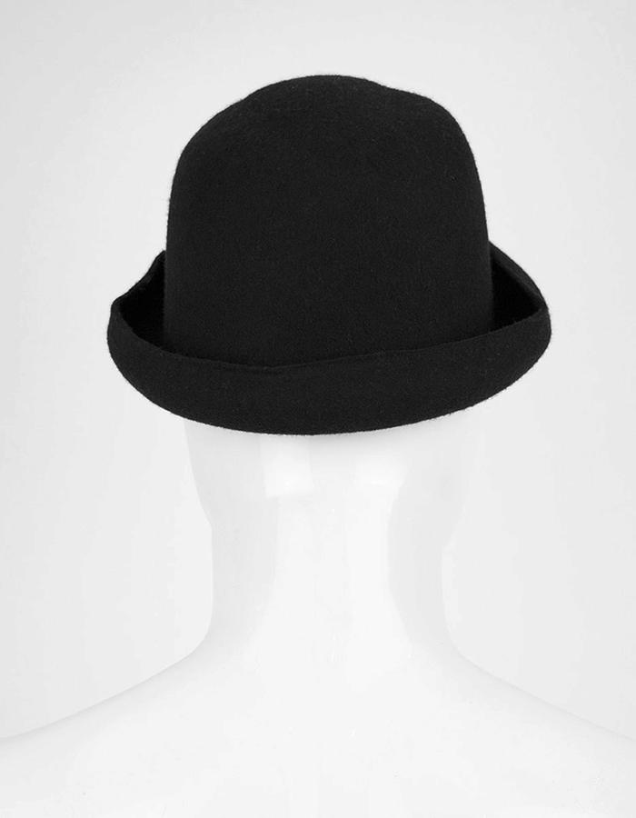 ISABEL BENENATO WOOL BOWLER HAT