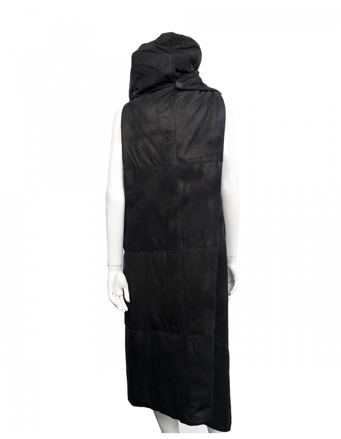 MONARC 1 LEATHER AND SILK PADDED VEST