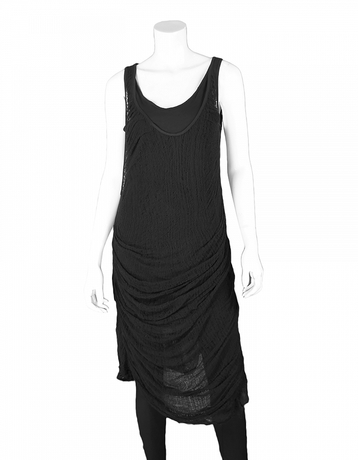 SANDRINE PHILIPPE TANK TOP WITH KNIT