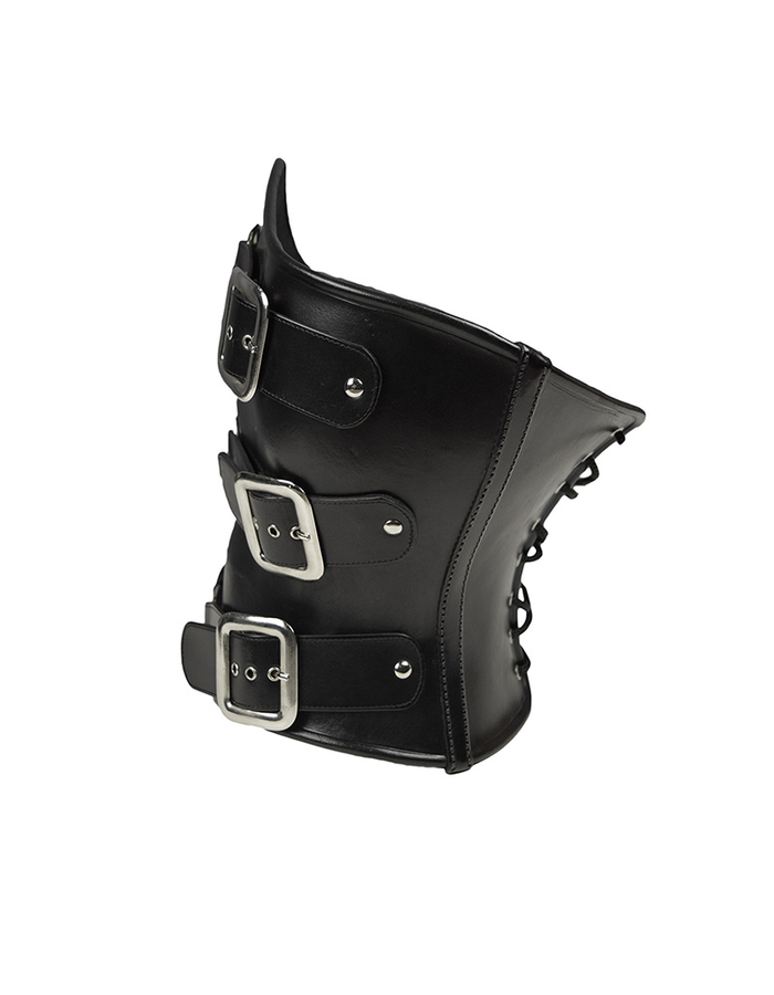 CECILIO LEATHER DESIGNS LEATHER CORSET WITH BUCKLES