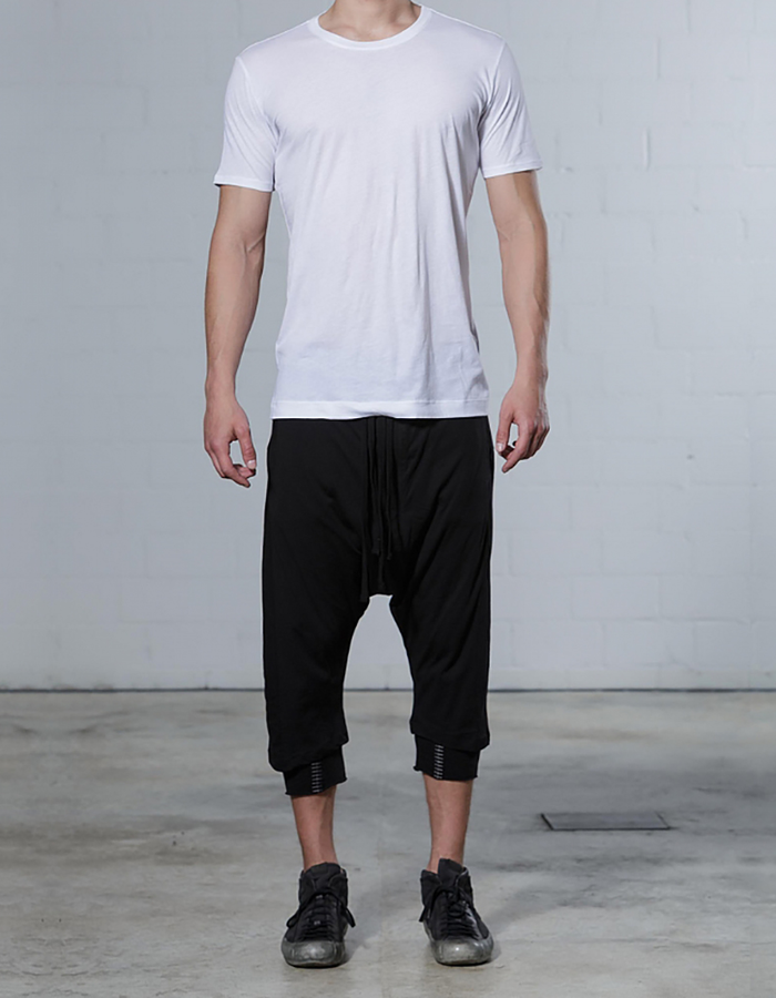 THOM KROM BACK TAPE TEE - WHITE