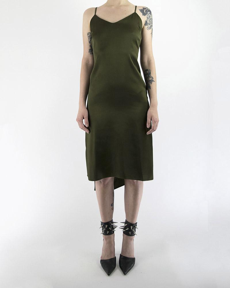 SPAGHETTI STRAP DRESS  W/ PLUNGE BACK