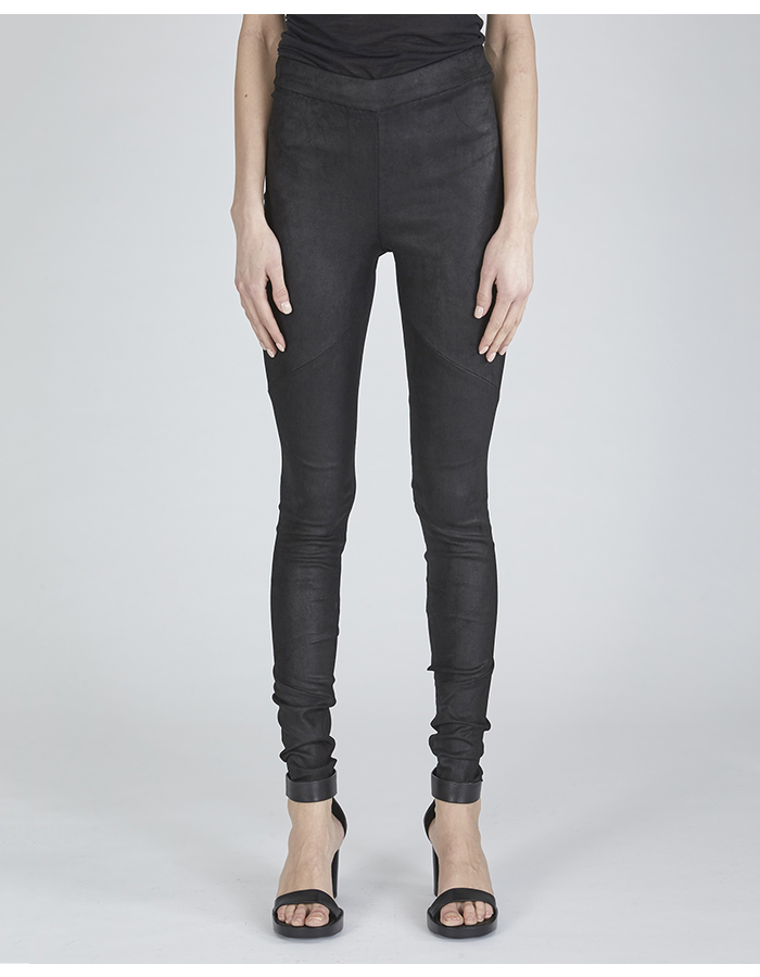 ISABEL BENENATO LEATHER STRETCH TROUSERS