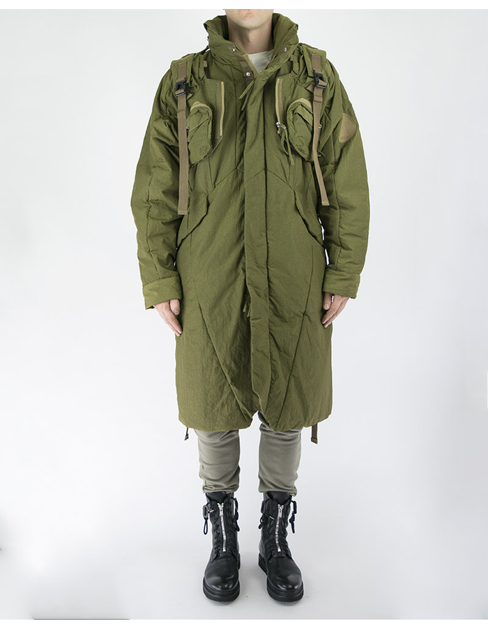 HAMCUS 2 PIECE QUILTED COAT - OLIVE