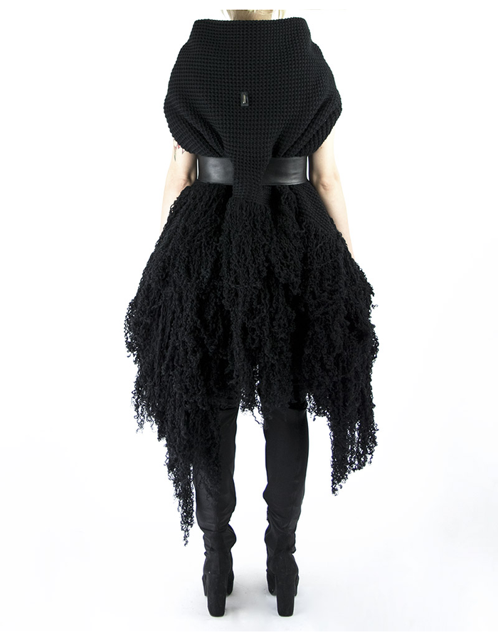 DAVIDS ROAD KNITTED COAT WITH LEATHER BELT