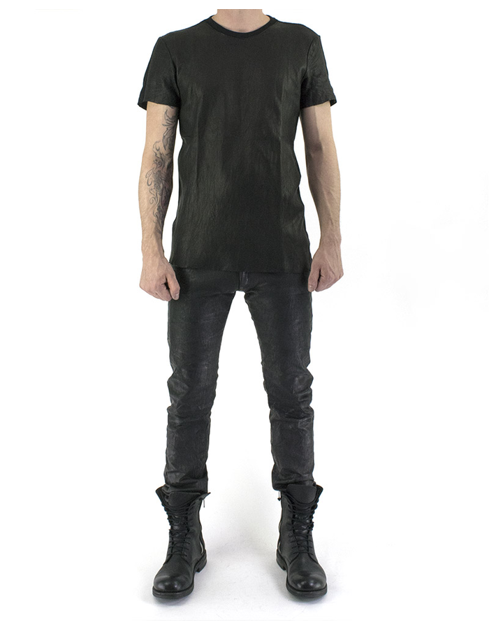 M-OJO RISIN BREATHING LEATHER T-SHIRT - ROMBINO