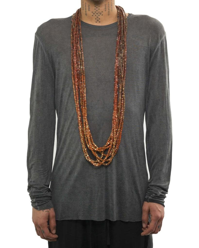 8 STRAND AUSTRIAN BEAD NECKLACE (TWO TONE)