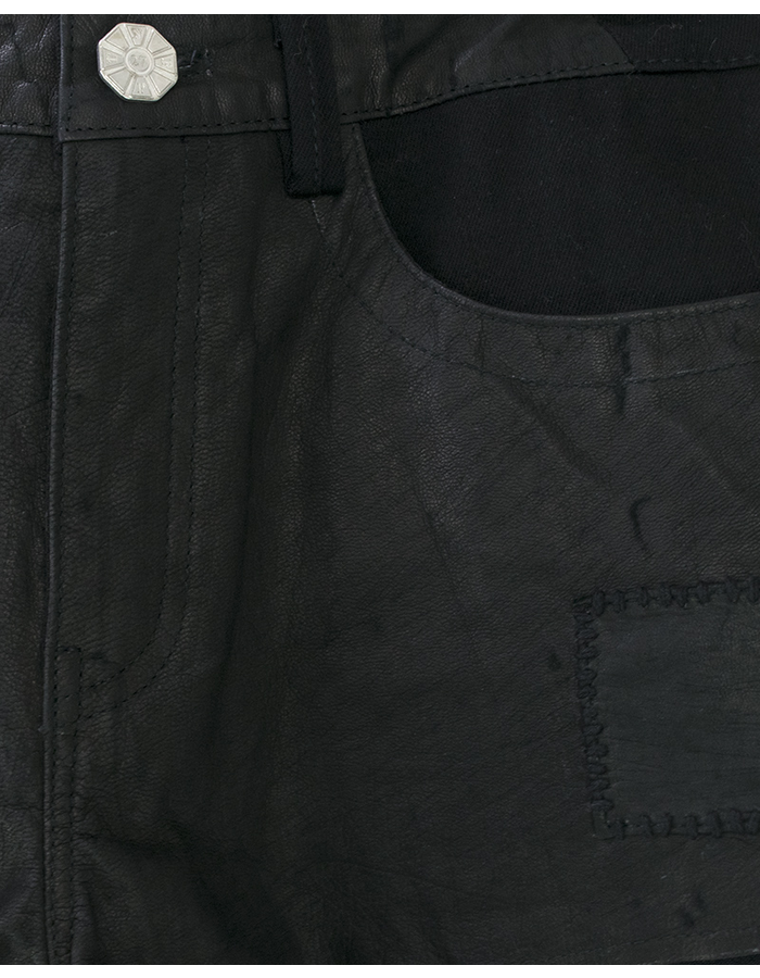 TNBP PATCHED LEATHER SHORT
