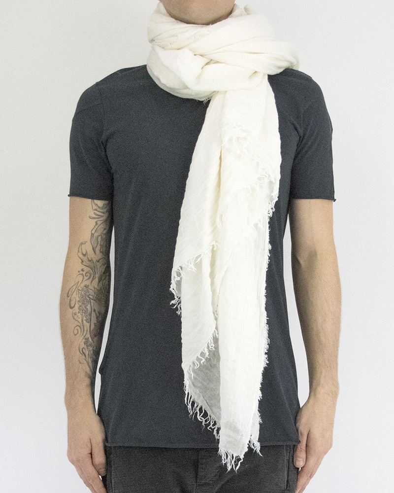 MODAL AND CAMEL STOLE - WHITE