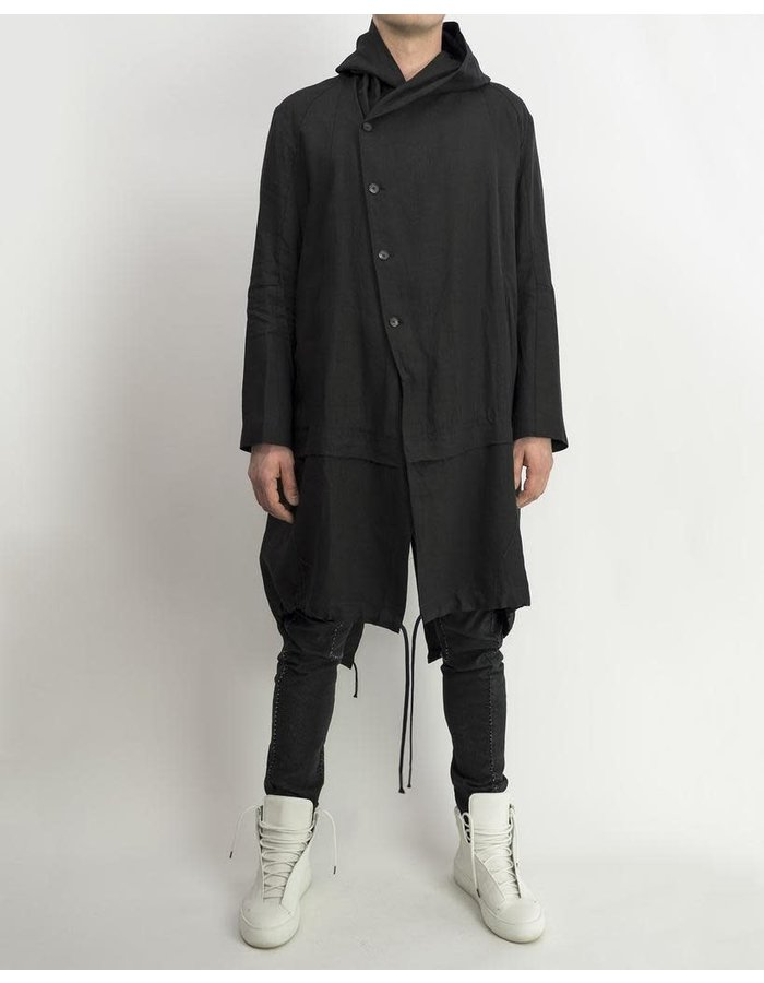 MASNADA LAYERED PARKA - BLACK