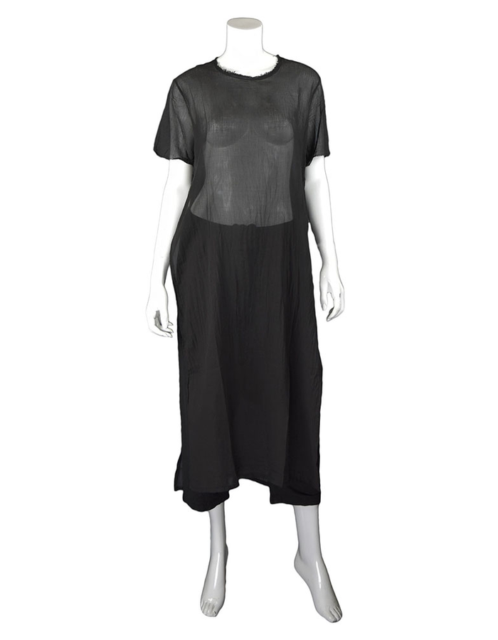 LOST AND FOUND ROOMS BLACK LONG COTTON TEE