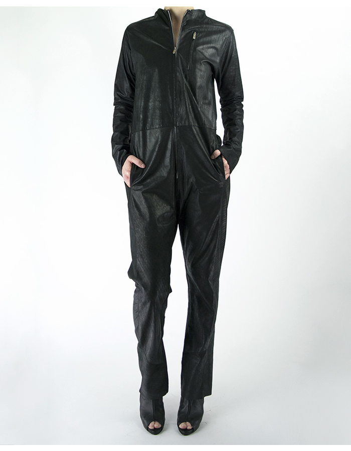 MONARC 1 OILED LEATHER COVERALL