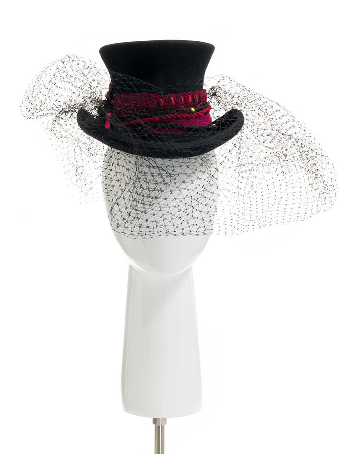TOLENTINO HATS BORGOÑA FASCINATOR