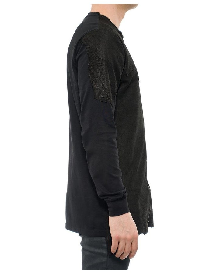 M-OJO RISIN LEATHER ZIP UP JACKET