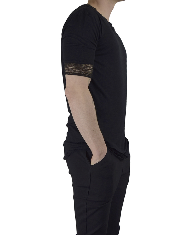 DAVIDS ROAD T-SHIRT WITH DESTROYED BOTTOM